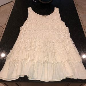 Boutique cream top medium euc